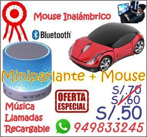 MINIPARLANTE BLUETOOTH MUSICA LLAMADAS MOUSE INALAMBRICO