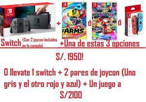 Nintendo Switch + Joycon + Juego