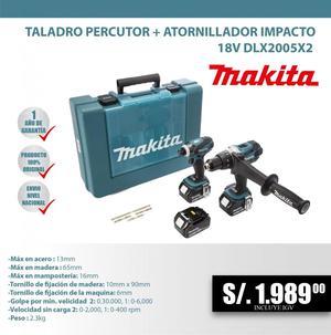 TALADRO PERCUTOR ATORNILLADOR IMPACTO 18V DLXX2