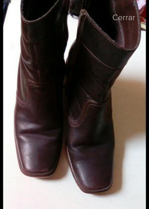 Botin Botas talla 36 y Zapatos talla 35 PURO CUERO