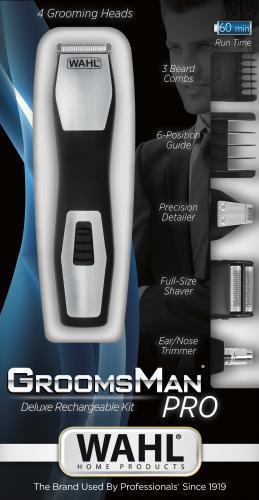 Maquina para corte de barba rasurar wahl grosman 5 en 1