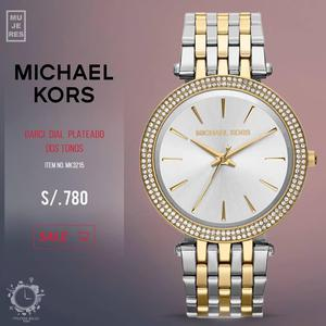 Michael Kors MK Reloj de cuarzo con correa de acero