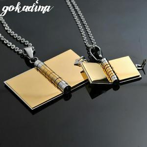 Vendo Collar Pareja Libros Carta de Amor