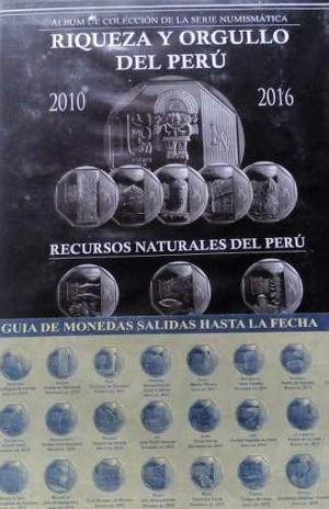 Album + Colección Completa Monedas Perú