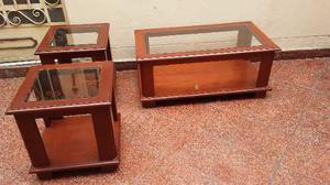 Juego De Mesas Para Sala Moderno Tres Piezas