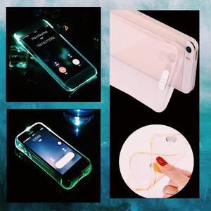 CASE PROTECTOR CELULAR LED IPHONE 5S 6 6S 7 FLEXIBLE LUZ