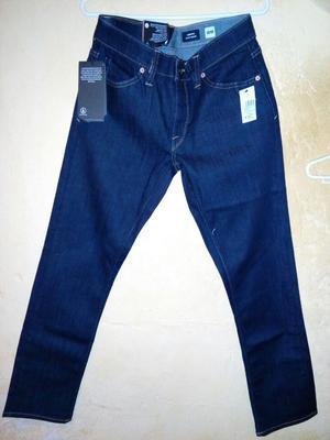 Volcom Modelo Vorta Slim Azul Talla 28