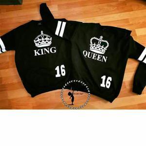 Poleras King Queen Par