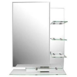 Repisa para ba o con detalles de vidrio espejo lima - Cristal de espejo ...