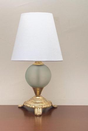Lámpara de Bronce con Vidrio Pavonado
