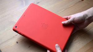 Protector De Cuero Ipad Mini 4 Smart Case Rojo Y Negro