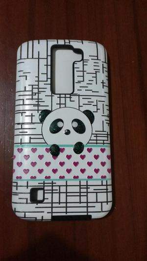 Vendo Funda Case Cover Carcasa para LG K8 NUEVO oso panda