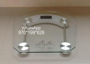 Balanza 180 kilos digital vidrio **No poker