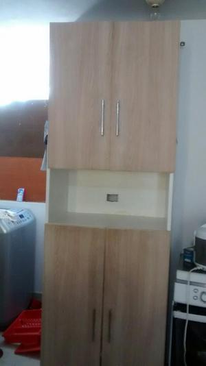 Cocina alacena de madera para ni as con lavadero hornos for Mueble alacena