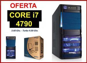 Cpu Core I7 4ta Generación tb Hdd/ 8gb Ram Black