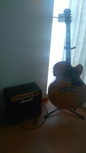 Guitarra Epiphone, Amplificador Marshall