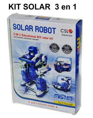 Kit Armable Robot 3 en 1 Solar *No balanza Poker