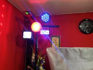 VENDO PACK DE LUCES SICODELICAS laser azul verde par led