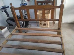 Venta de camas modernas de madera posot class for Cama 2 plazas madera