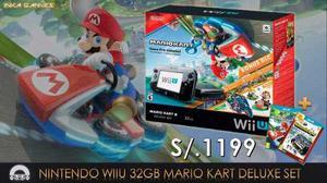 Consola Nintendo Wiiu 32 Gb Mario Kart + Regalo Nuevo Sellad