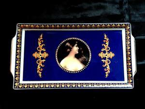 Porcelana Fuentes Decorativas Camafeo