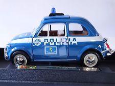 auto de metal a escala de coleccion de policia