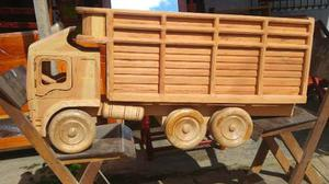 Camion De Madera Cedro Juguete