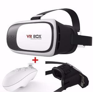 Lentes Realidad Virtual Vr Box 2.0 Google Carboard + Mando