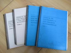 VENDO 13 MANUALES DE ELECTRONICA Y ELECTRICIDAD AUTOMOTRIZ E