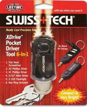Swiss Tech Xdrive Multi-herramienta De Bolsillo 6 En 1 -