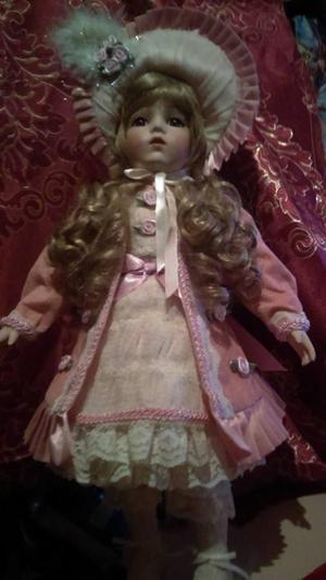 Muñeca Antigua De Porcelana, Biscuit Adorno
