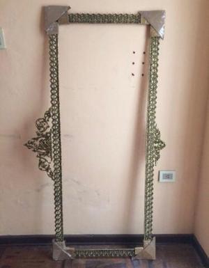 Antiguo marco de madera con espejo restaurado posot class for Marco espejo