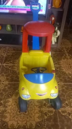 carro de paseo con guiador para niños little tikes