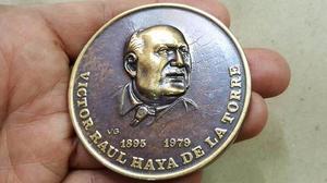 Rara Medalla De Victor Raul Haya De La Torre