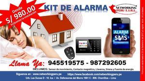 Alarmas contra incendio kit completo posot class for Alarmas para el hogar