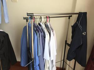 colgadores exhibidores de ropa cromado s 160 posot class