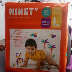 Pañales Desechables para Bebes de 64 Unid.