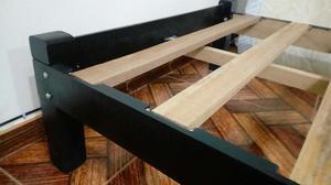 Tarimas y camas desarmables de madera 1plz posot class for Tarimas de madera para cama