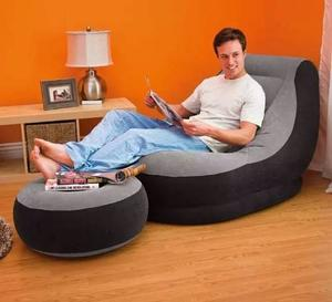 Sofa Sillon Inflable Con Puff 2 Piezas