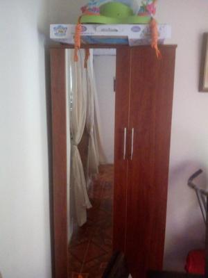 Zapatera de 2 puertas con espejo