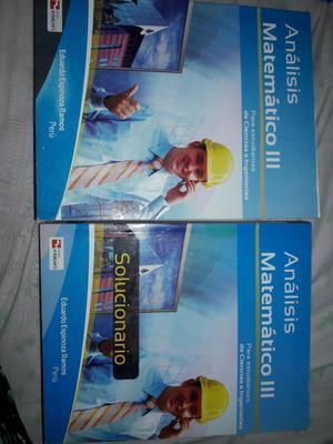 Análisis Matemático 3 Libro,solucionario