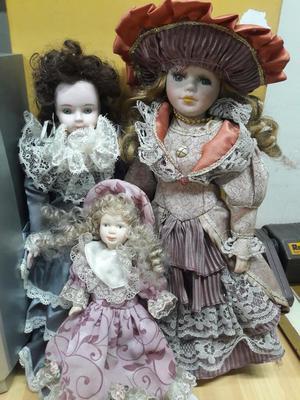 Muñecas de Porcelana en Buen Estado