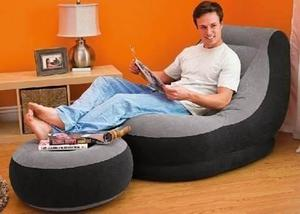 SOFA INFLABLE CON PUFF