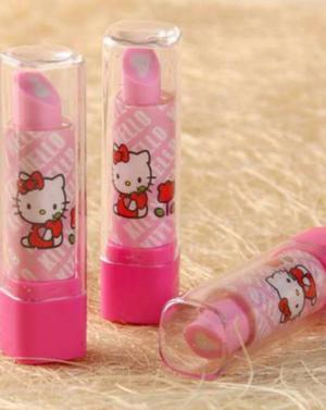 Lapiz Labial Borrador Hello Kitty 2 Unid