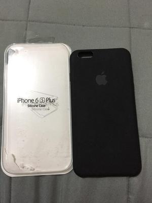 Silicone Case Color Negro iPhone 6 Plus/6S Plus Nuevo