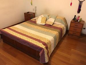 Cama queen size spring rosen soles posot class for Cama queen de madera