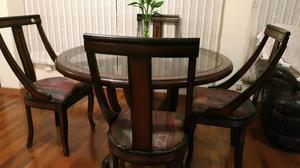 Juego de comedor cl sico de madera con 6 sillas posot class for Juego comedor madera 6 sillas