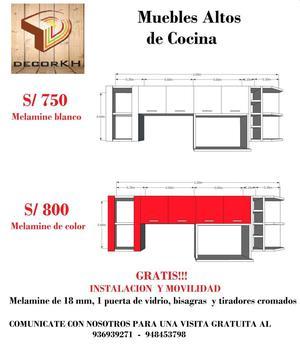 Muebles de cocina altos y bajos en melamine posot class for Modelos de muebles de cocina altos y bajos
