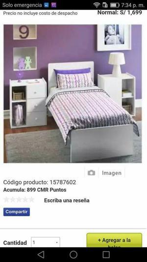 Vendo cama cuna plaza y media posot class for Cama de plaza y media