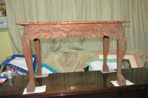Ev antigua hermosa mesa de centro patas de leon posot class - Patas para mesa de centro ...